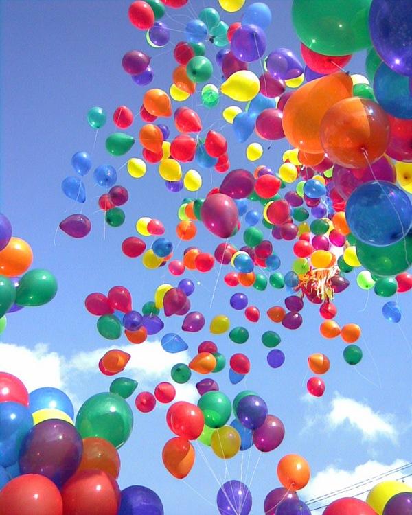 поздравление с шарами по цветам примеры стильно одетых